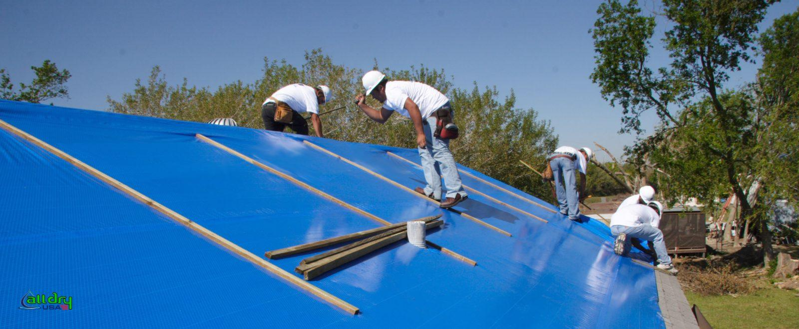 Blue Roof Tarp Service