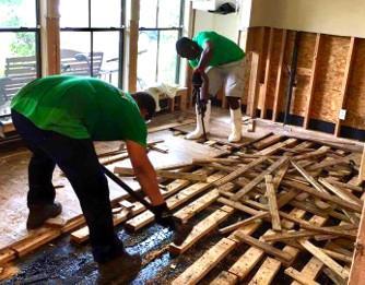 Wood Floor Water Damage