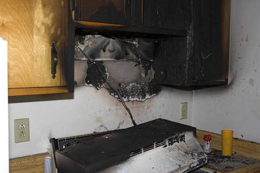 Melted Kitchen Appliances After Fire