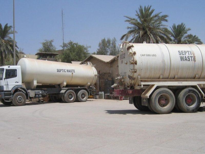 Septic Tank Trucks Unloading