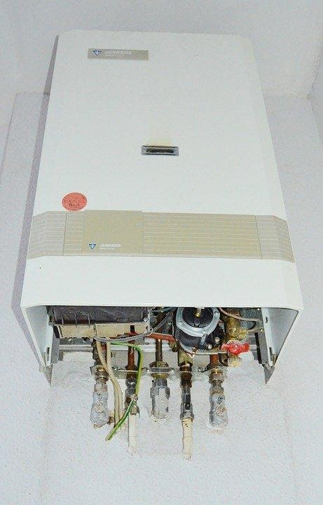 White Water Heater With Exposed Elements