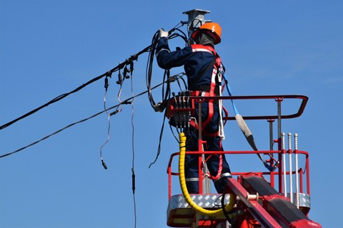 Electrician Repairing Power Cable