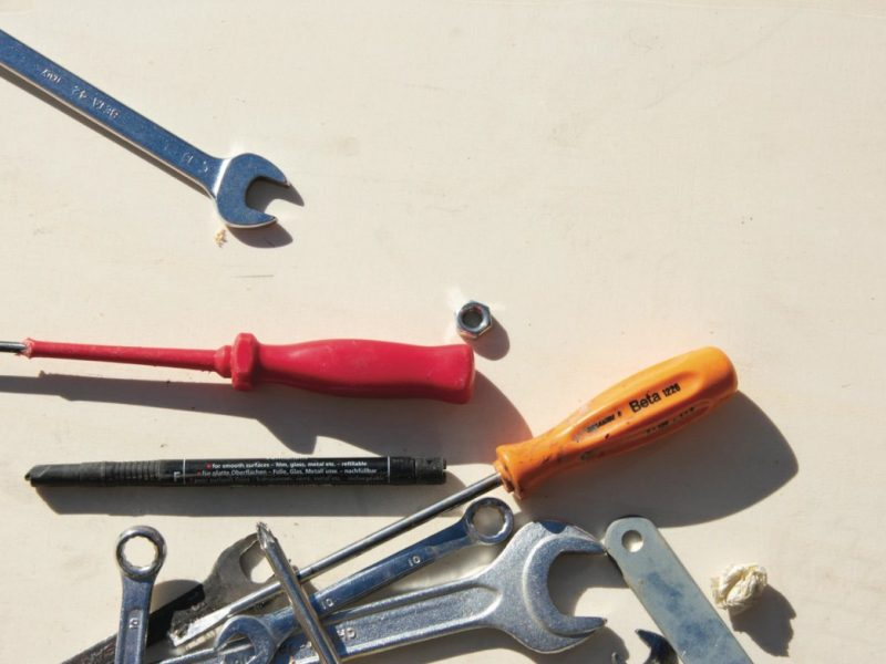 Assortment Of Various Colored Tools