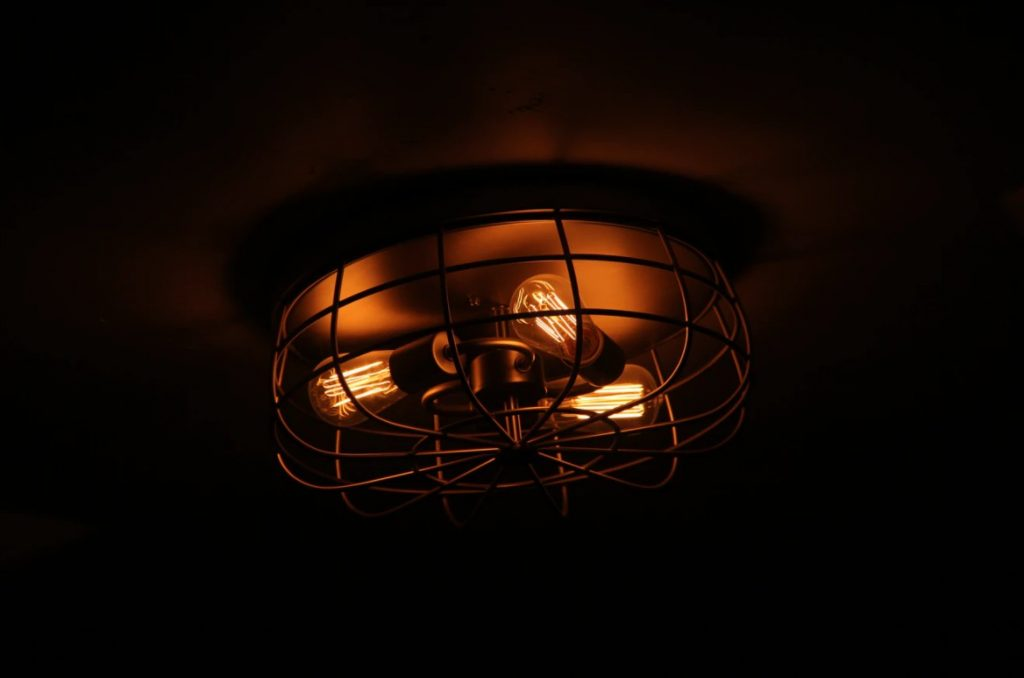 Black Framed Light Fixture