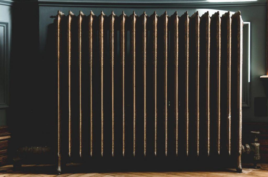 Brown Heater On A Wooden Floor