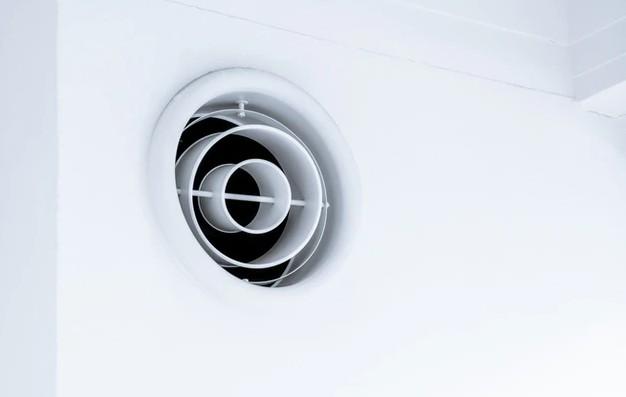 White round exhaust fan