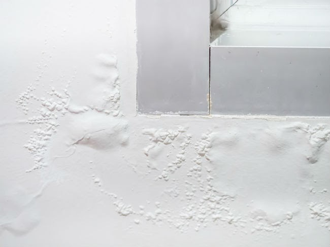 Water Bubbles On White Wall