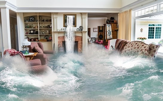 Water Flooding Into House